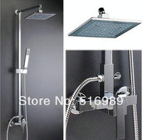 Bathroom Rainfall Wall Mounted  With Handheld Shower Head Faucet Set YS-1208k