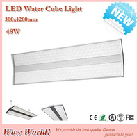 New arrival! LED Water cube light, 48W, 300x1200mm, IP43, new fashion design led panel light, indoor use, 100lm/W, SMD3014