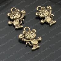 Wholesale 16*12mm Antique Bronze Tiger Alloy Charms Pendants cute Catton Cartoon accessories (J-M3536)