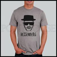 HEISENBERG Breaking Bad black hat sungalsses deadly poison Division T-shirt short-sleeved men