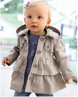 2013 new,5pcs/1lot children's coat 100% cotton Girl's dust coat/ grils in the winter coat.Children's clothes, coat of the girls