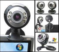 New 30.0 Mega USB 6 LED Webcam HD PC Web Camera HD with Mic win7 64bits
