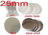 Badge maker supplies 25mm blanks 100sets