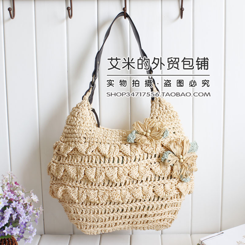 This Stylish Crochet Shoulder Bag With Decorative Drawstring And