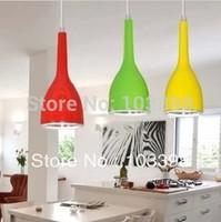 Wholesale 7w led pendant lamps for home residential lighting AC85-265v lemon yellow color seiko space aluminum light design item