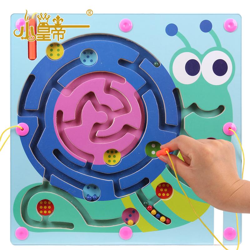 Child magnetic maze pen maze magnetic pen maze magnetic toy maze educational toys(China (Mainland))