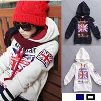 2013 sweater new Korean children's clothing wholesale  Sweater word flag fashion  leisure  velvet  jacket  free shipping