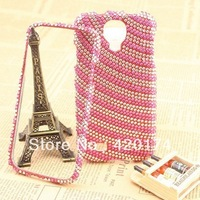 Back & Front Frame Ronin Bumber Bling Full Diamond Case Rhinestone Cover For Samsung Galaxy S IV i9500 Gitter Cover