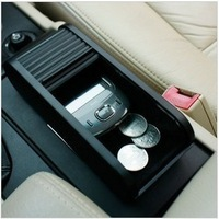 Pull type mini glove box car storage box storage box car coin box exhaust pipe