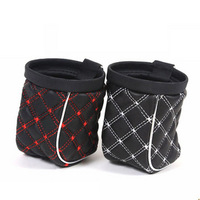 Car red wine series of car exhaust pipe car hanging air outlet sundries bag cell phone pocket storage bag glove