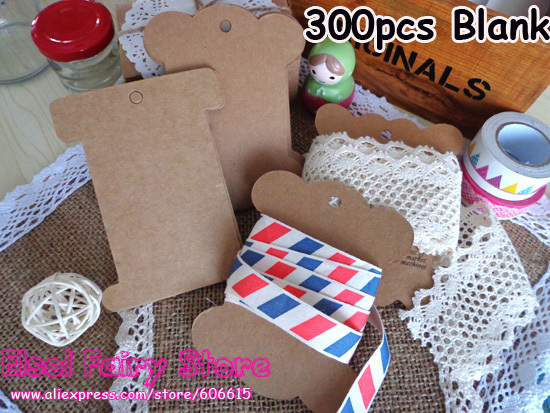 Wholesale Kraft Cardboard Blank Bobine Tag without drawing Bobbine Cards, Lace Storage Spool (300pcs) Free shipping(Hong Kong)