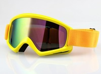 Motocross Motorcycle Dirt Bike ATV MX Off-Road Goggles Yellow Frame Colour Lens Free Shipping