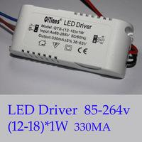 10pcs/lot, (12-18)X1W LED lamp driver, 12W/13W/14W/15W/16W/17W/18W in common use, led power lamp driver,