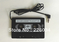 Car Audio Cassette Adapter for iPod/MP3/CD Player Disc Digital Audio Tape With 3.5mm Input Jack + Free Shipping