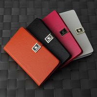 4Color,Genuine 100%Real cowhide Stents Leather case cover for Nokia Lumia 720,Case cover with 2 Card,Free Screen protector