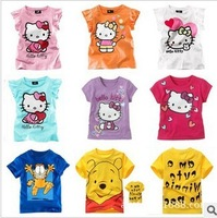 Free shipping New 5 pcs/lot baby boy girl T Shirt cartoon Kids Children Tops tees Summer Wear Short Sleeve Children clothes
