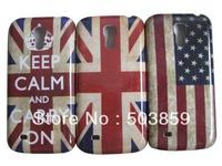 3pcs Retro US UK Flag Hard Back Case For Samsung Galaxy S4 mini i9190 Case