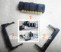 Free Shipping Wholesale 100 Sets of IDC 16 Pin Female Connector For Making Flat Cable,Insulation-displacement Connector,Black