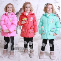 Free shipping! Lace cultivate one's morality children down jacket girls more long down jacket
