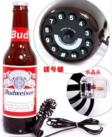 Fashion personalized beer bottle phone telephone beer telephone budweiser beer