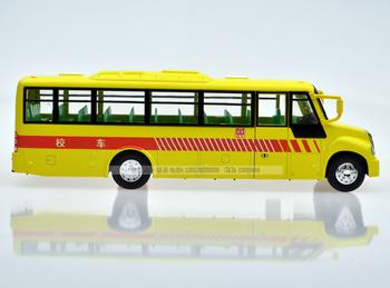 Acoustooptical WARRIOR alloy car model yutong bus toy school bus