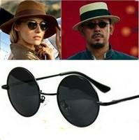 wholesale Prince's star mirror round box vintage fashion male Women sunglasses large sunglasses sun glasses Free shipping