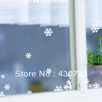 Christmas snowflake wall stickers kitchen cabinet window glass stickers home decoration interspersion