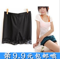 C285 comfortable soft viscose legging lace decoration shorts pants safety pants female