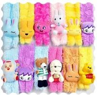Children's cartoon animal head scarf children bust cartoon baby scarf soft warm scarf