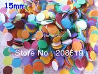 PA0020 Felt Dots 15mm 500pcs Mixed Non woven patch scrapbooking craft accessory