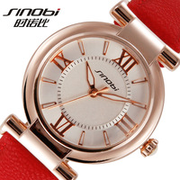 Sinobi all-match watch women leather strap women's  ladies watch free shipping
