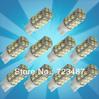 Wholesales 10PCS T10 Car High Power 168 194 W5W White 28 SMD LED Wedge RV Light Bulb Lamp 12V, Free Shipping
