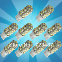 Wholesales 50PCS T10 Car High Power 168 194 W5W White 28 SMD LED Wedge RV Light Bulb Lamp 12V, Free Shipping