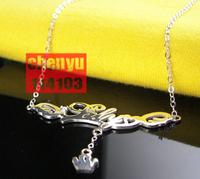 Diy name necklace Women 925 pure silver customize , belt sa0404925