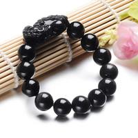 Obsidian pi xiu bracelet male women's lucky evil bracelet