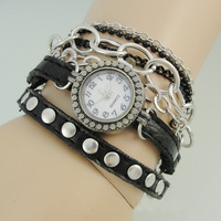 Free Shipping~2013 New Arrivals Vintage Fashion Hand-woven Lee Hyo Ri Same Paragraph Beads Bracelet Watch~W034