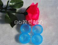Fashion Solid Transparant Color Contact Lens Cases Unisex Double Boxes Various Colors Factory Drop Shipping 50pcs/lot
