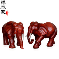 Wood grain decoration lucky elephant Large a pair of fashion decoration crafts home