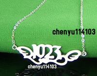 Letter necklace 925 pure silver diy personalized pendant customize Women customize , sa006 jewelry designers