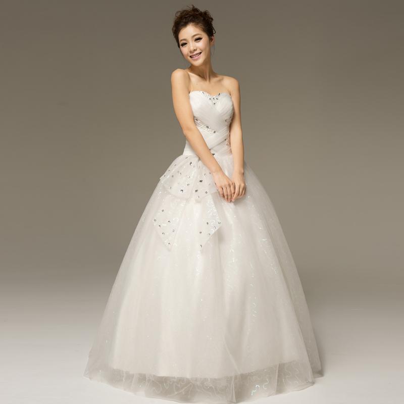 2013 Summer The Bride Wedding Dress Princess Wedding Dress Tube Top Bandage W