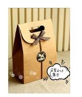 Free shipping 50pcs zakka Kraft Paper cracker Box Bag  9.5*15  handmade Candy Soap paper packaging black kraft bag  wholesale