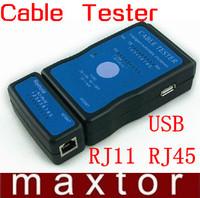 Multi-Modular RJ11 RJ45 Network LAN USB Wire Cable Line Tester Checker M726