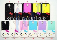 hybrid case for galaxy s4 mini . High quality Fashion lovely 2in1 Combo Hello kitty Hard Case for samsung galaxy s4 mini i9190.