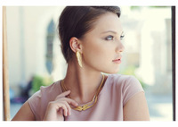 Pure silver gold plated necklace pendant noble elegant fashion female accessories
