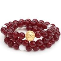 Agate necklace kim women's 925 pure silver necklace female bracelet