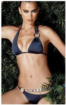 Victoria mohini rhinestone Dark Blue sexy bikini crystal bikini female swimwear