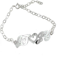Customize bracelet pure silver Women bracelet customize bracelet letter necklace