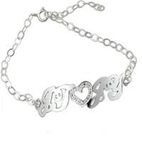 Customize bracelet pure silver Women bracelet customize bracelet letter necklace