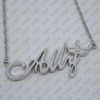 925 pure silver pendant letter pendant letter necklace female customize diy personalized gifts