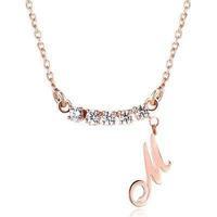 Honey 925 pure silver letter pendant customize Women name necklace